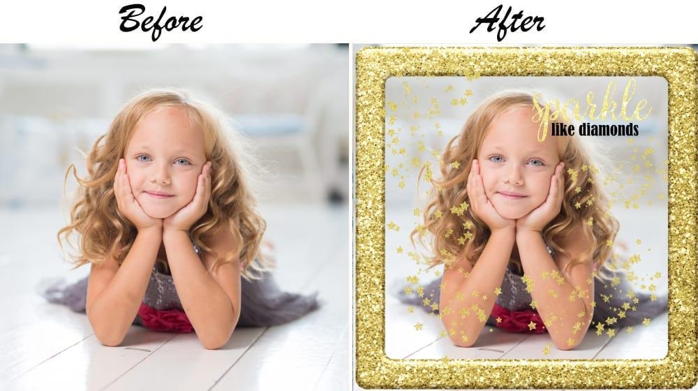 Glitter photos